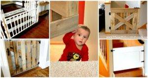 30 Best DIY Baby Gate Tutorials on Cheap Budget