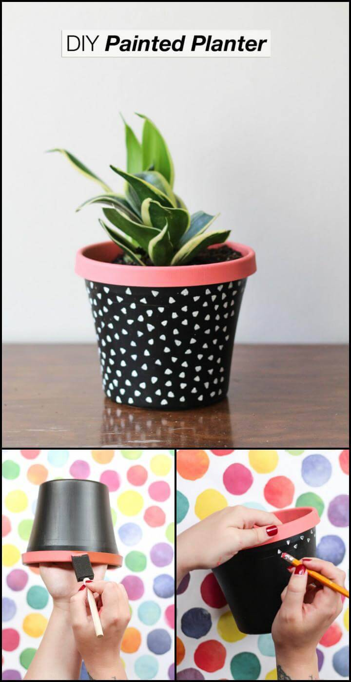 DIY beautiful painted planter
