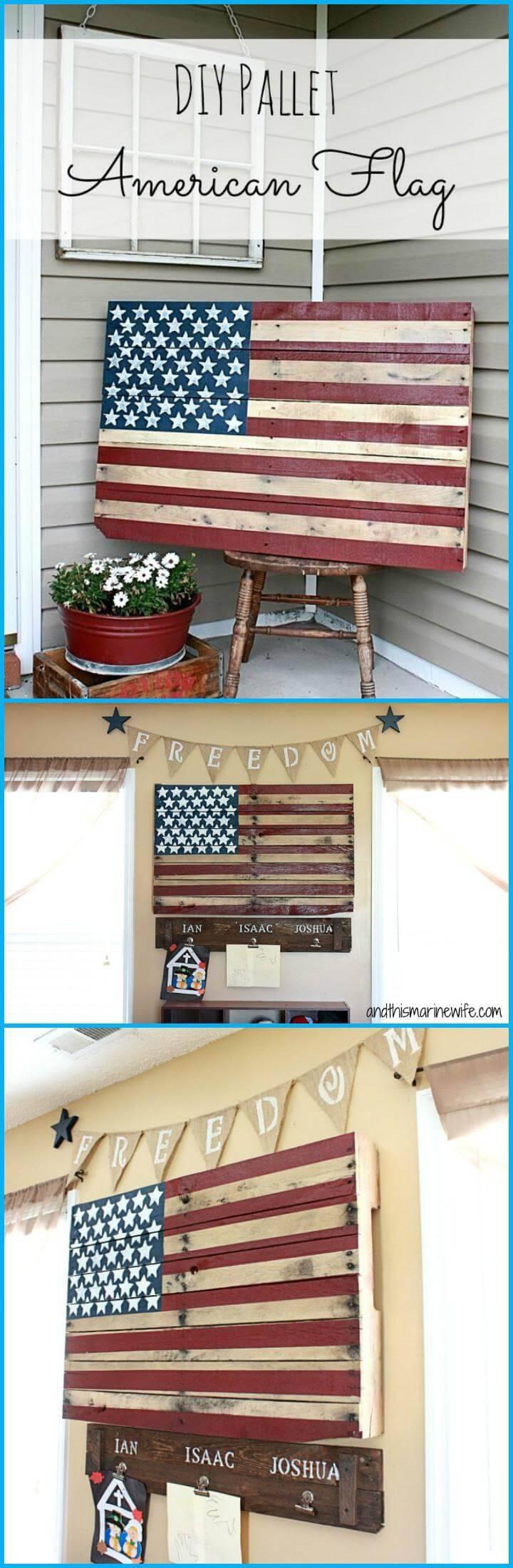 DIY beautiful pallet American flag