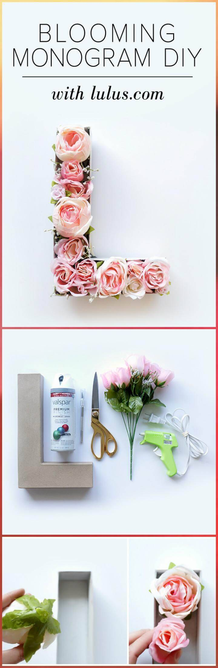 DIY blooming monogram Mother's Day gift