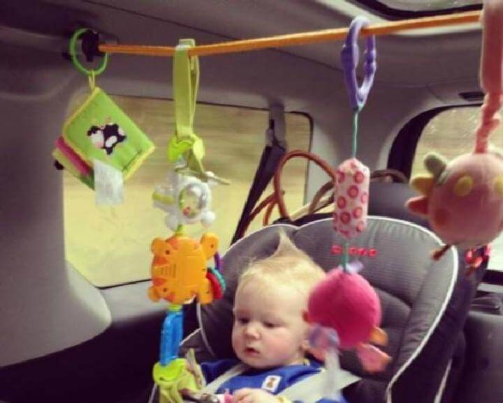 DIY Bungee Cord Car Activity Center for Babies