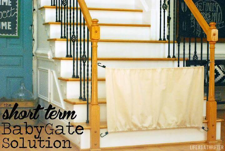 DIY Bungee Cord Short Baby Gate