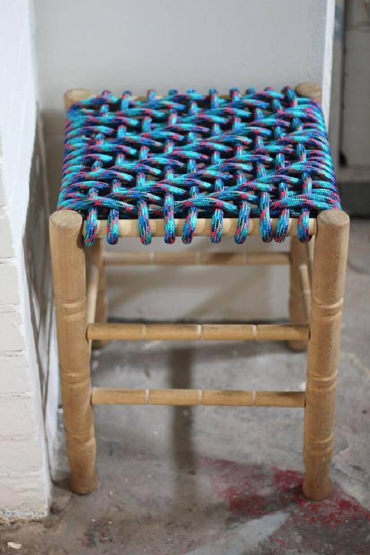 DIY Bungee Cord Woven Stool