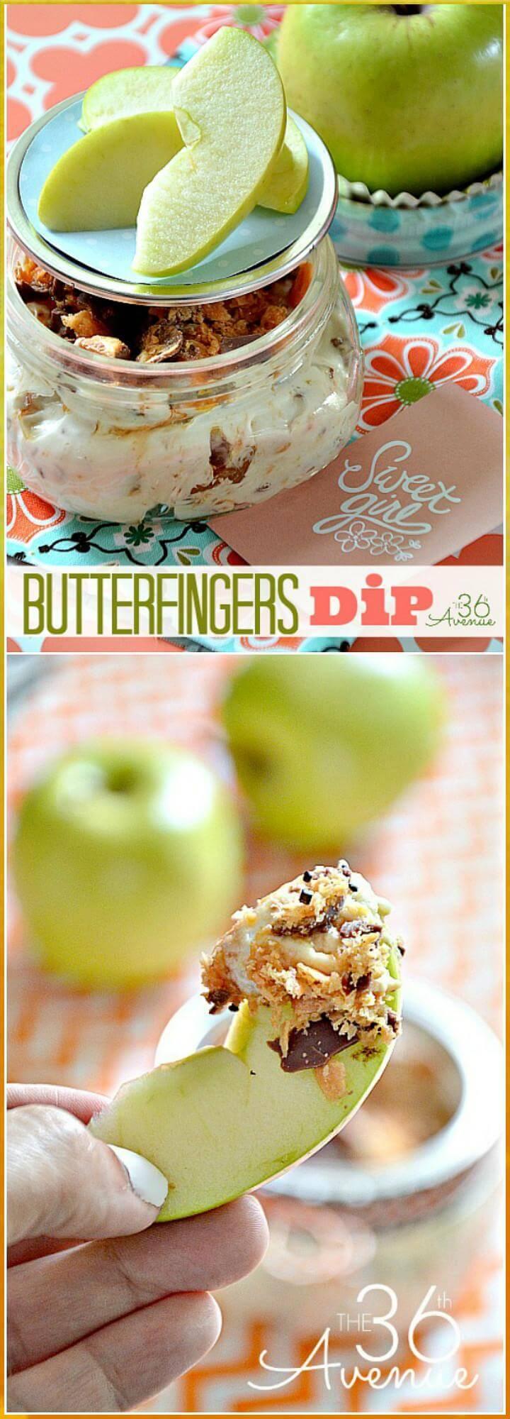 DIY butterfingers dip recipe