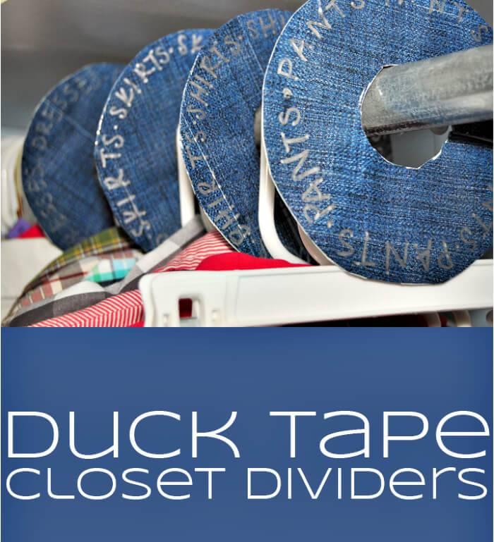 DIY duck tape closet divider