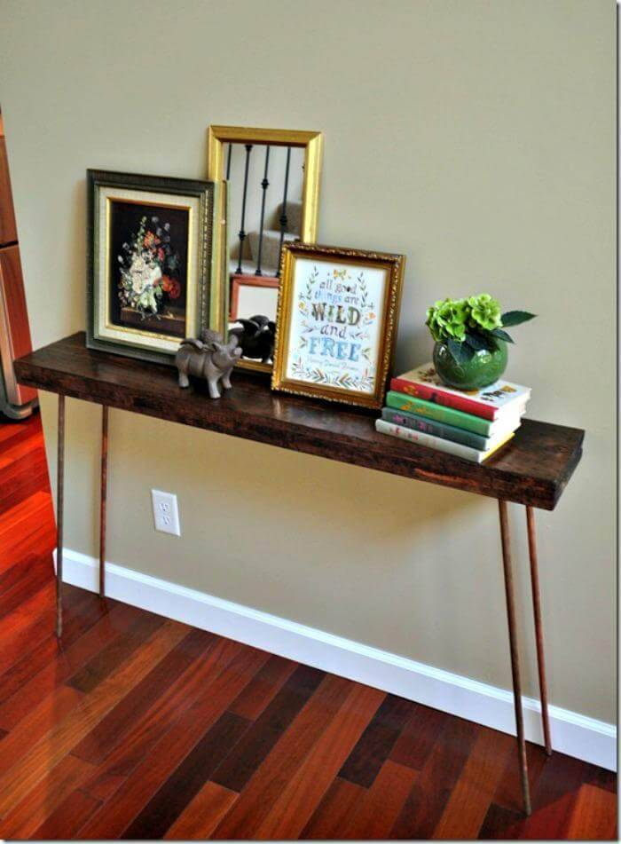 DIY CONSOLE TABLE HOW-TO