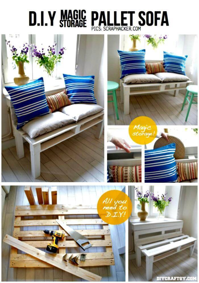 DIY Chic Pallet Sofa
