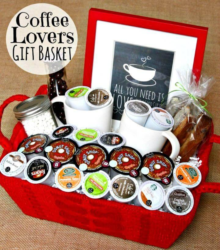 DIY Father's Day Coffee Gift Basket