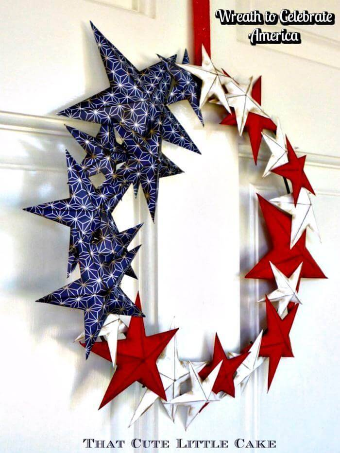 DIY {Craft} Patriotic Wreath - 4th July