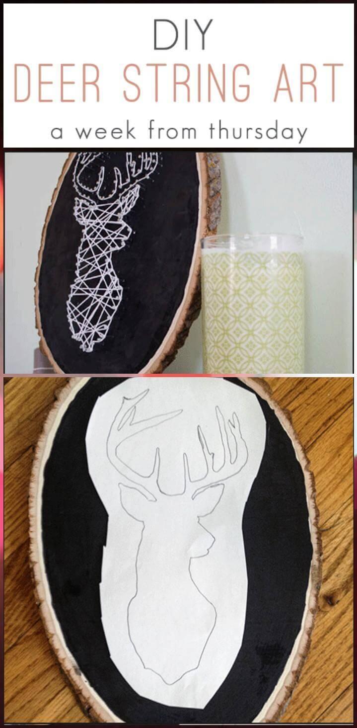 DIY Deer String Art