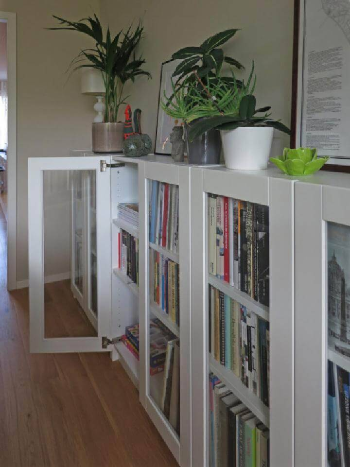 DIY Easy Billy Bookcase with GRYTNAS Glass Doors