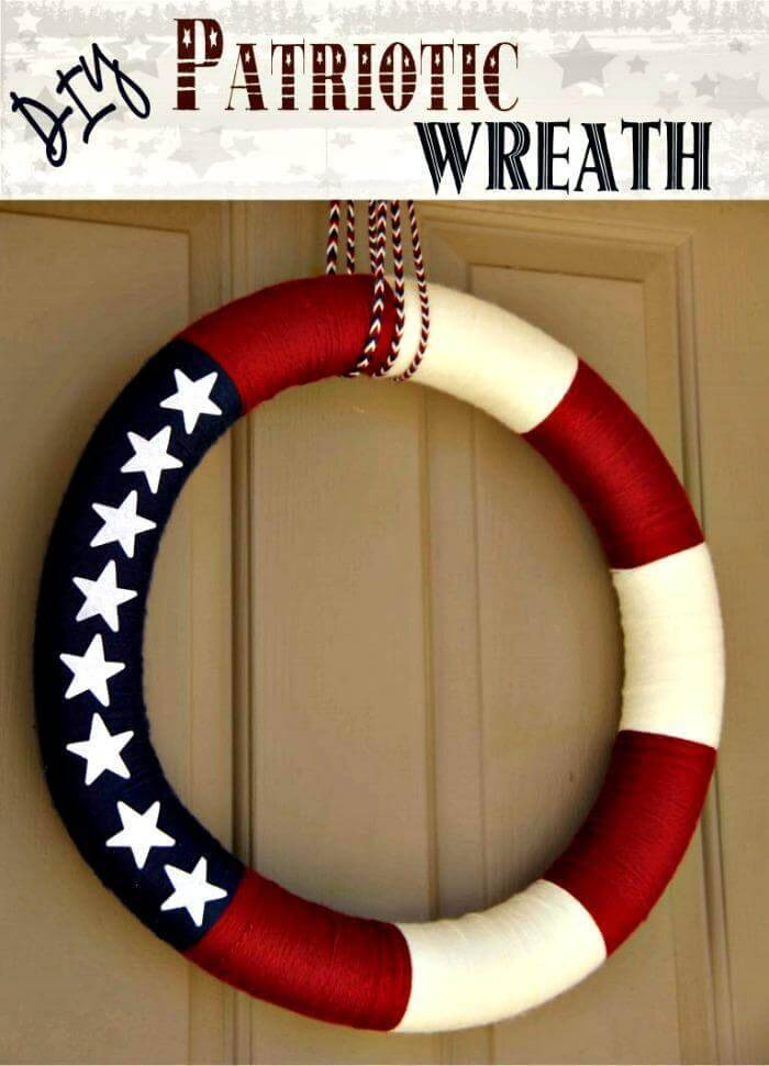 DIY Easy Patriotic Decoration Wreath Tutorial