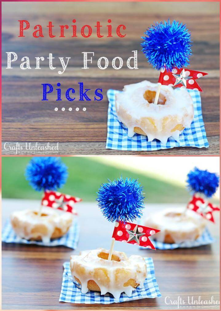DIY Easy Patriotic Party Food Picks