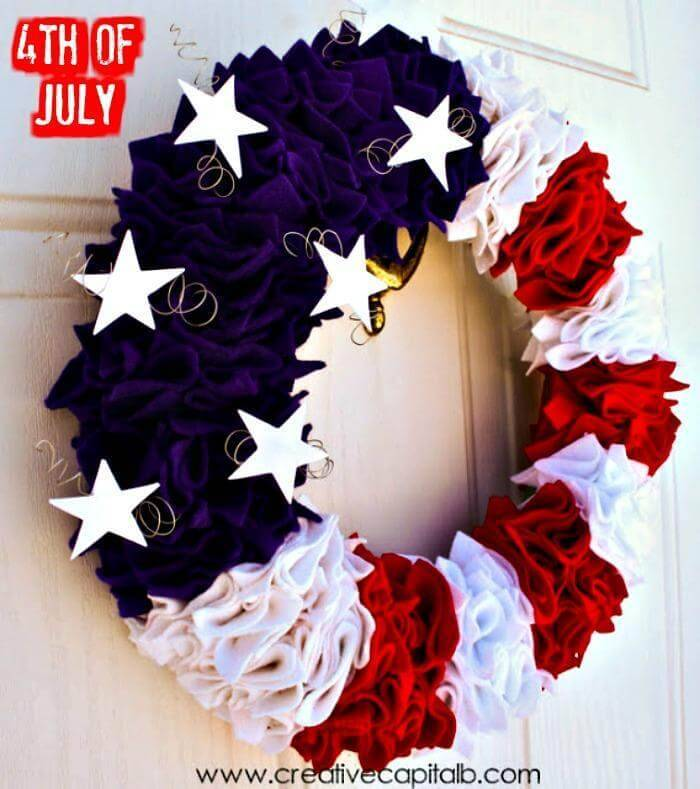 DIY Easy Patriotic Wreath Tutorial