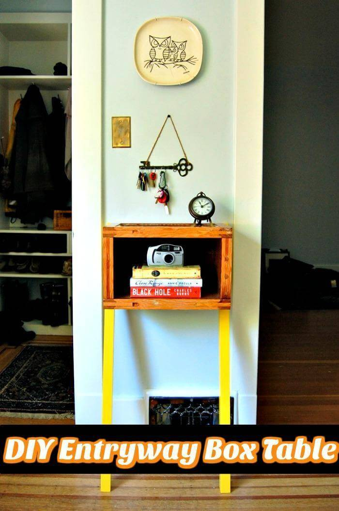 DIY Entryway Box Table