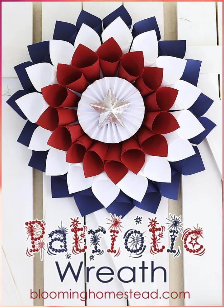DIY Extra Beautiful Handmade Patriotic Wreath