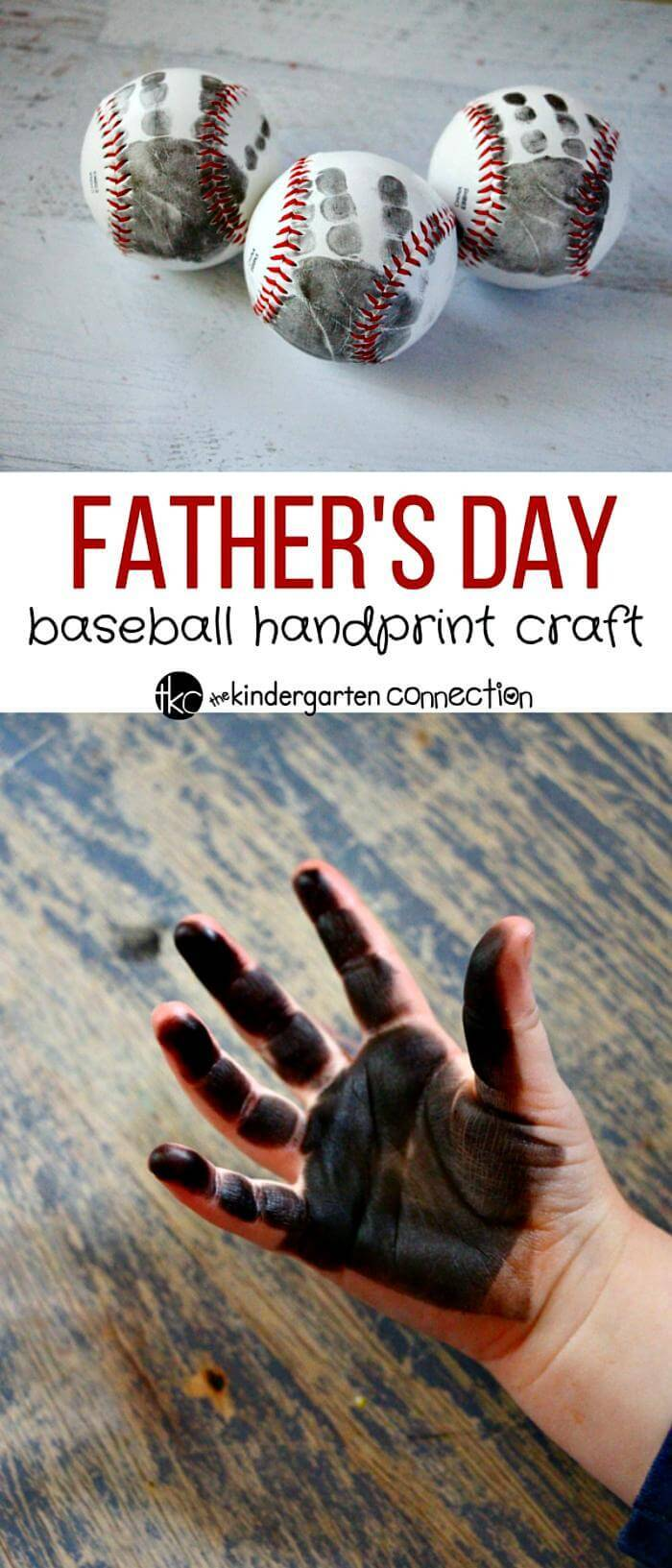 DIY Father's Day Baseball Craft