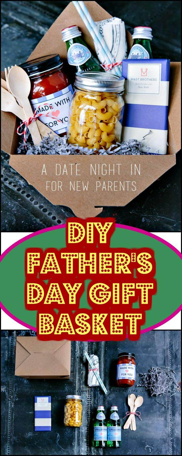Easy Father's Day Date Night Gift Basket