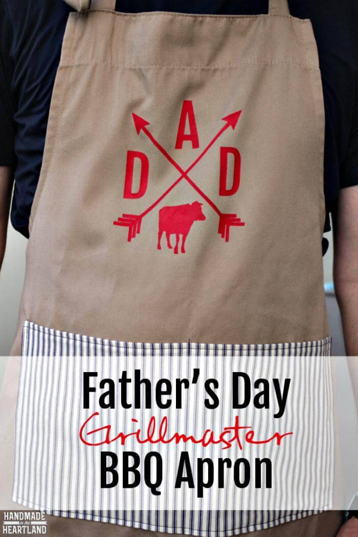 DIY Father's Day Grilllmaster BBQ Apron