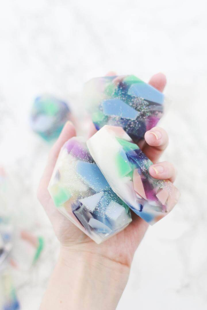 DIY Homemade Gemstone Soaps