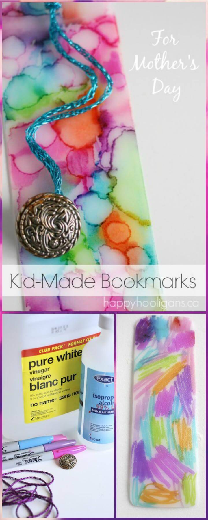DIY Handmade Bookmarks for Mother's Day