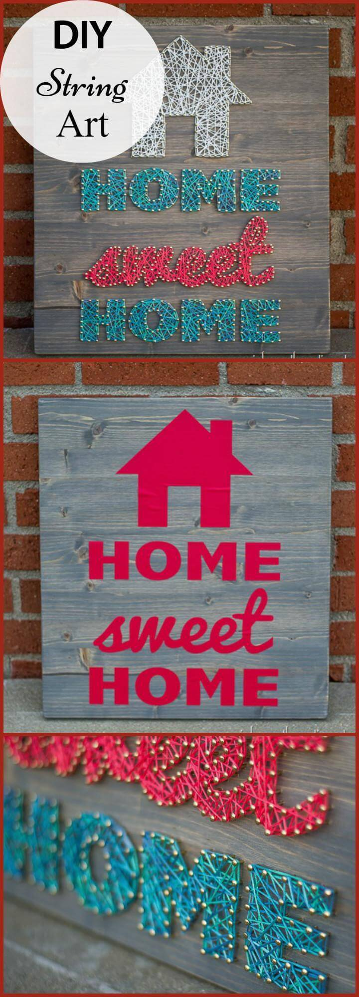 DIY Home Sweet Home String Art