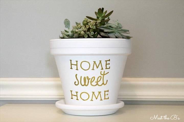 DIY Home Sweet Home Succulent Planter