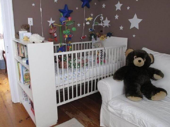 DIY IKEA BILLY Bookcase into Baby Crib