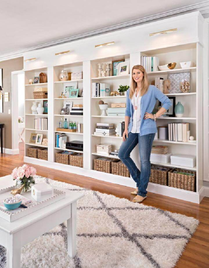 DIY IKEA BILLY Bookcases Library Walls