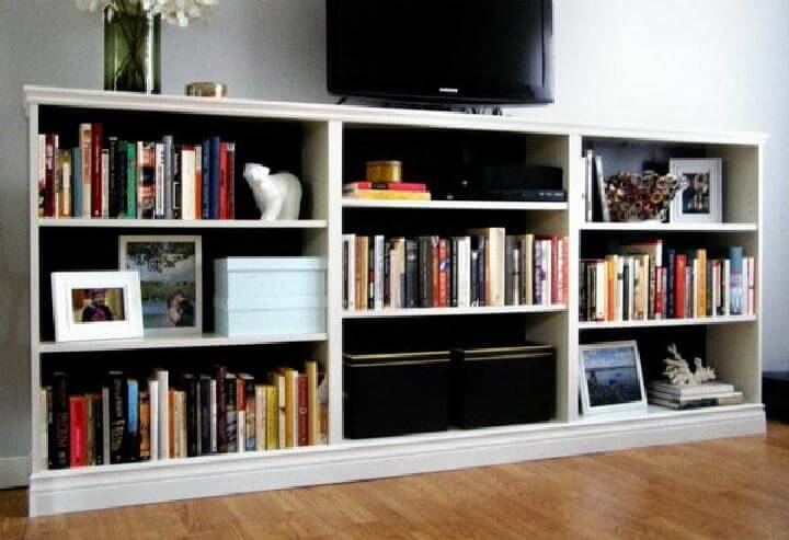 DIY IKEA BILLY Bookshelf Living Room Entertainment Center