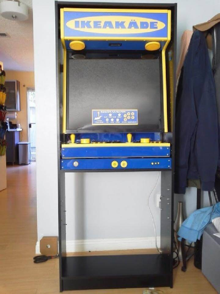 DIY IKEA BILLY into Arcade Game