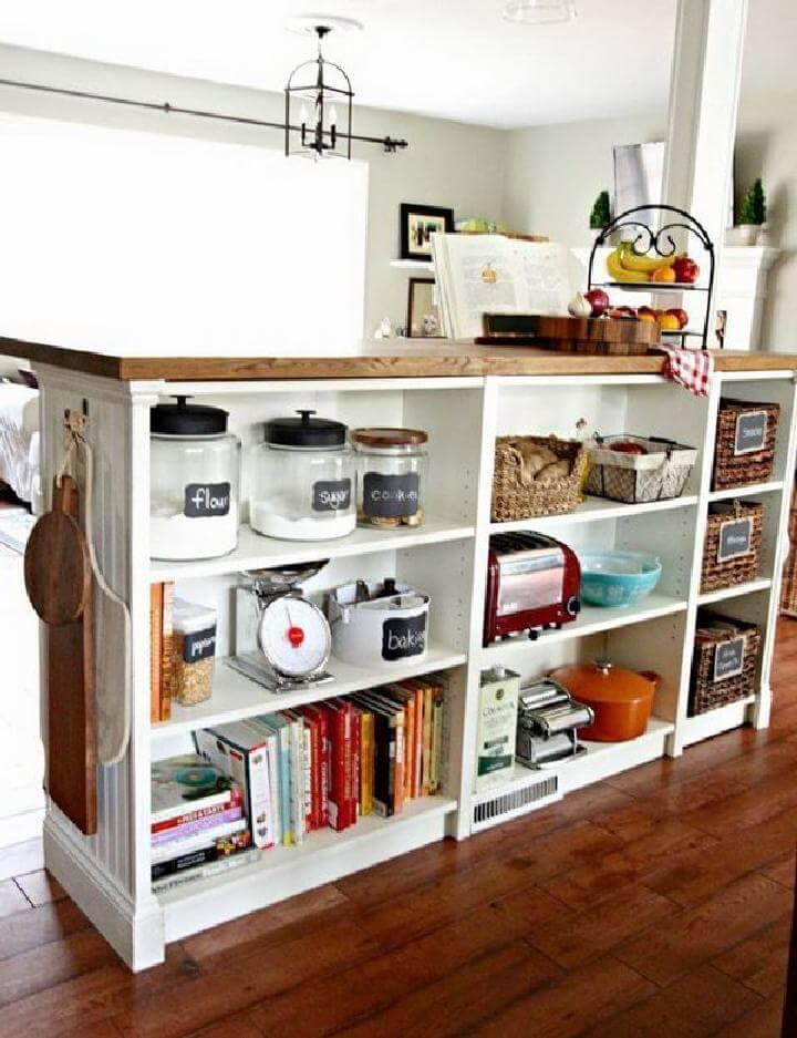 DIY IKEA Butcher Block and BILLY Kitchen Island