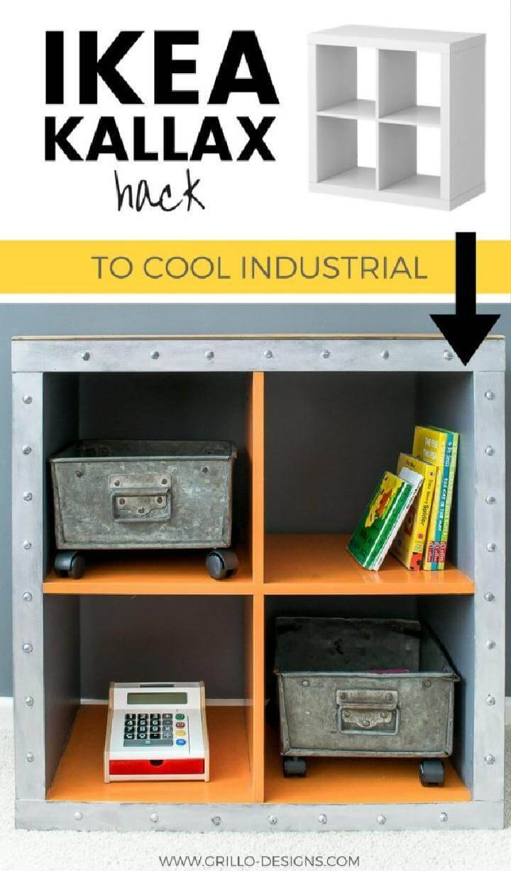 DIY IKEA Expedit Cube to Industrial Storage Unit