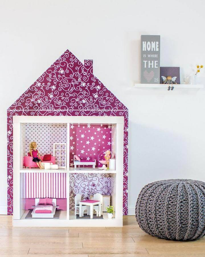 DIY IKEA Expedit Dollhouse