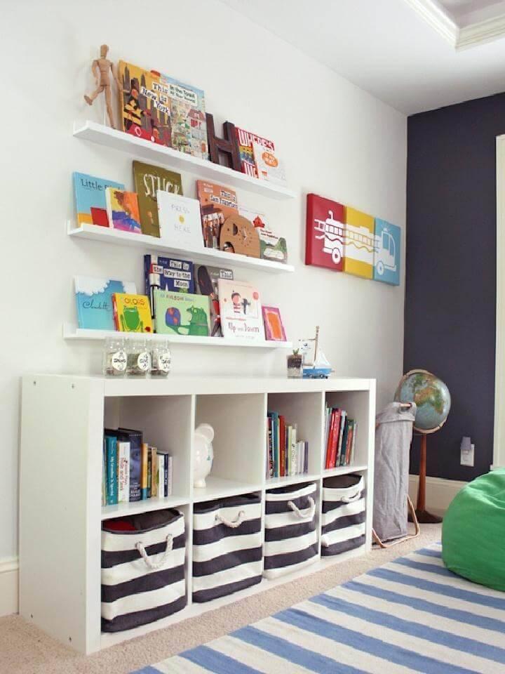DIY IKEA Expedit Kid's Playroom Storage Cubes