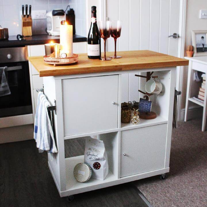 Ikea Hacks Kitchen Island On Wheels