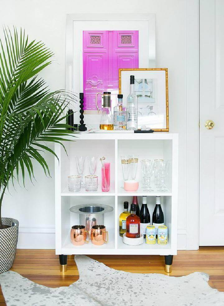 DIY IKEA Kallax Mini Home Bar