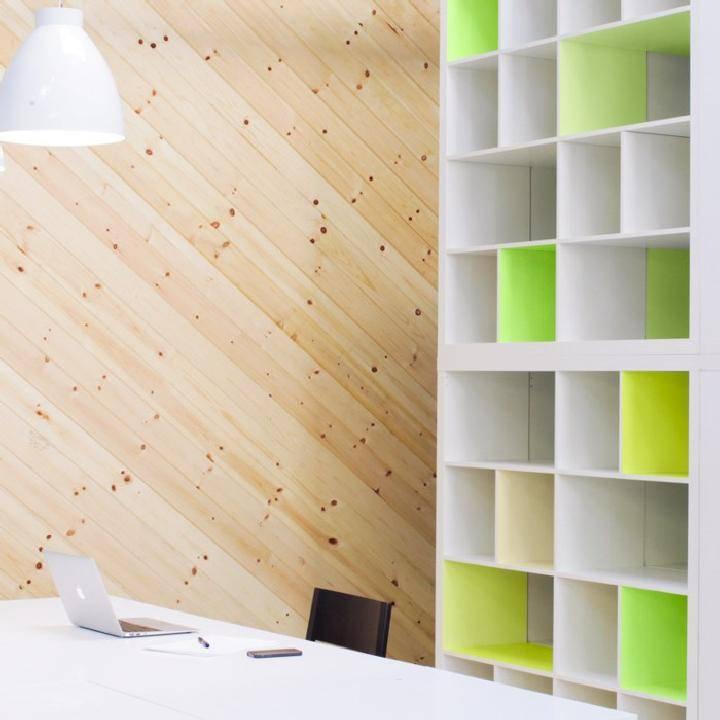 DIY IKEA Kallax Neon Bookshelves