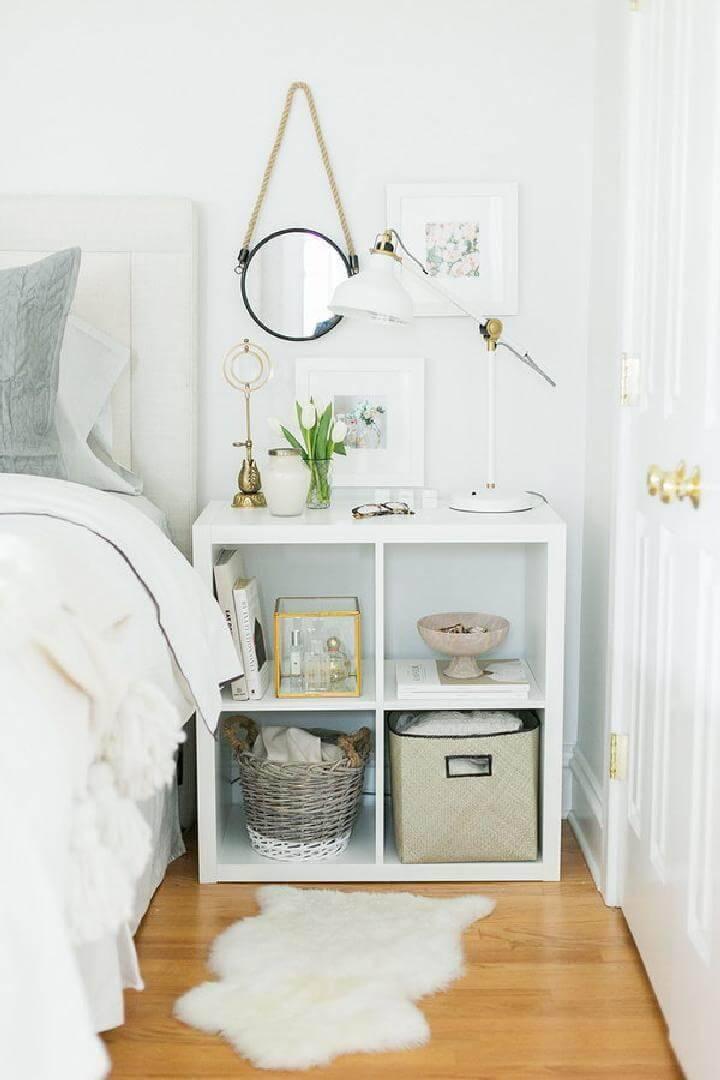 DIY Beautiful IKEA Kallax Nightstand