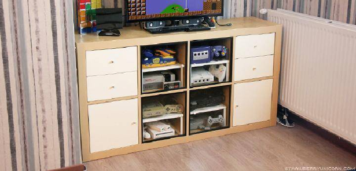 DIY IKEA Kallax Retro Gaming Cabinet