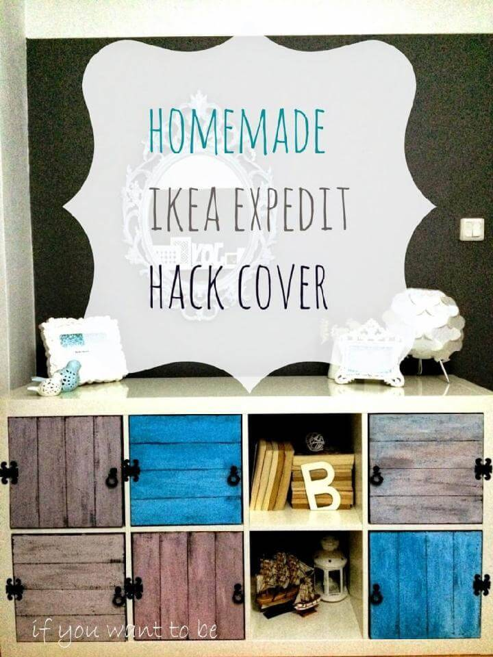 DIY IKEA Kallax Storage Unit with Colorful Distressed Doors