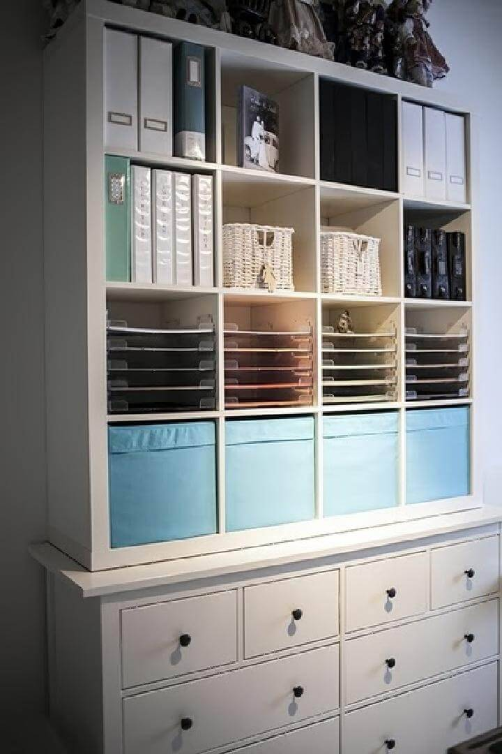 DIY IKEA Kallax and Hemnes Craft Storage Unit