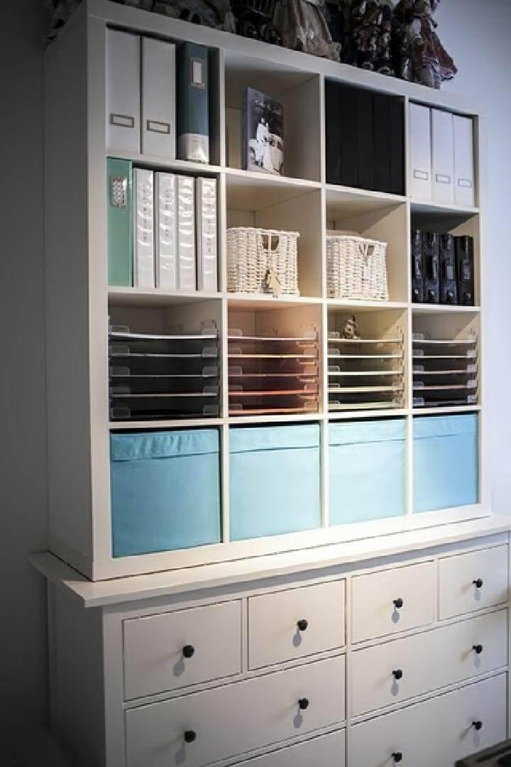 60+ IKEA Kallax Shelf Hacks or DIY Expedit Shelf DIY& Crafts