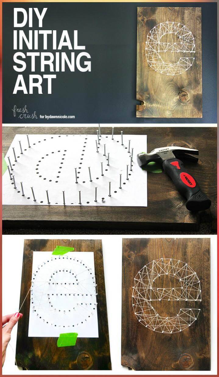 DIY Initial String Art Tutorial