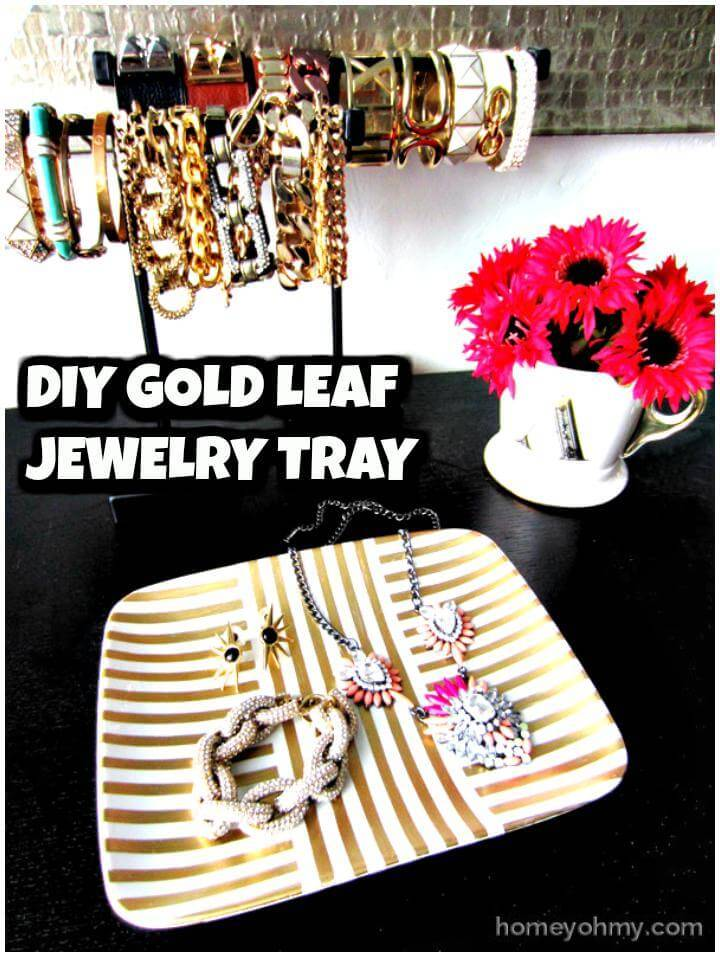 easy self-made jewelry tray dispaly