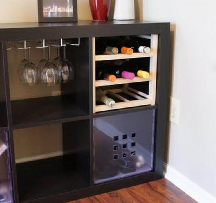 DIY Kallax Beverage Storage Unit