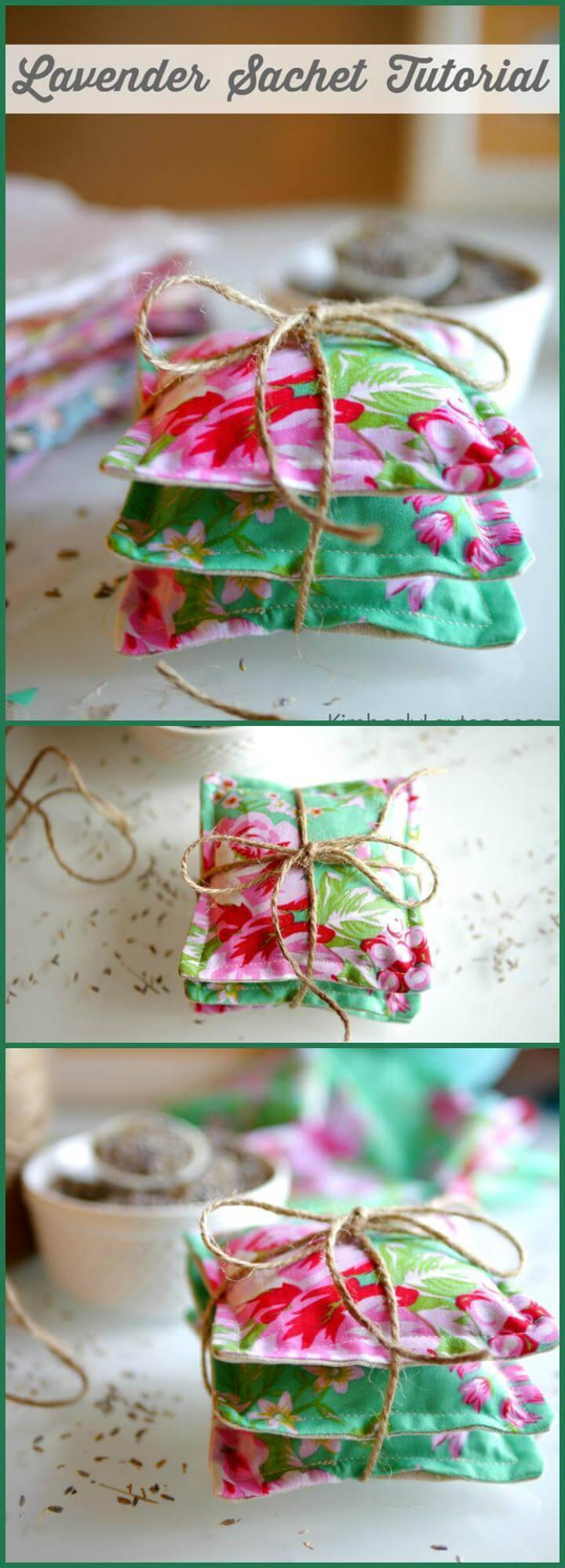 DIY easy lavender sachet tutorial