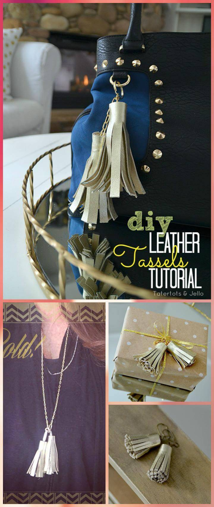 DIY easy leather tassel tutorial