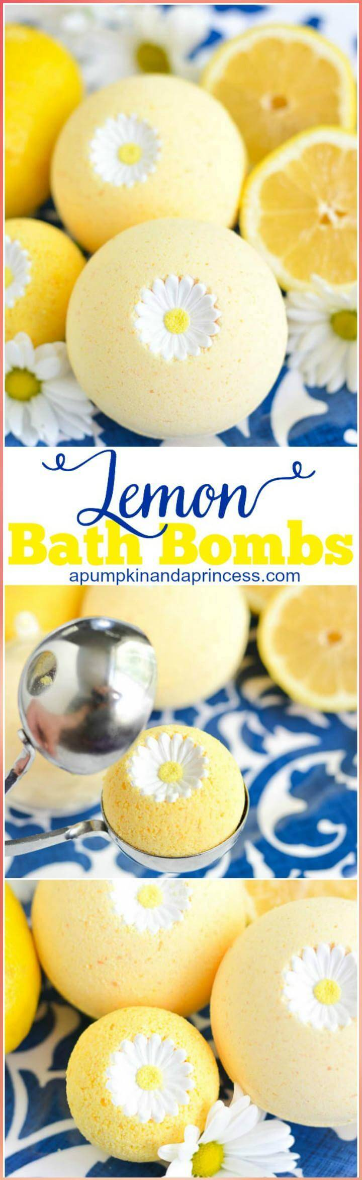 easy lemon bath boms Mother's Day gift