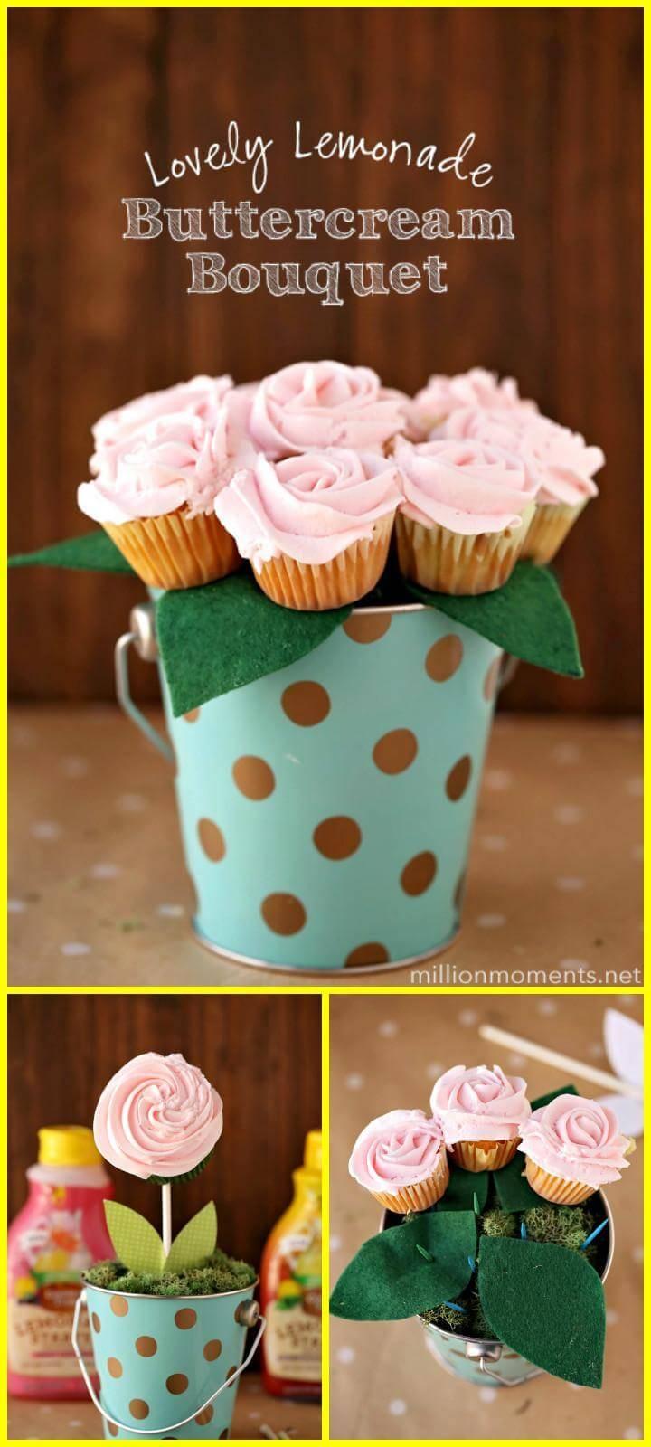 easy handmade lemonade buttercream bouquet